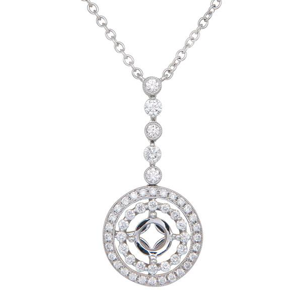Rahmanims imports view diamond semi mount pendant set in 18k white gold mozeypictures Image collections